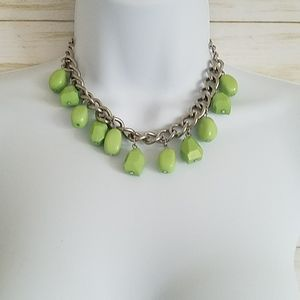 Paparazzi Green Beaded Necklace and Earrings